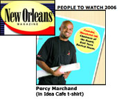 Percy Marchand, Idea Cafe Grant Winner featured in New Orleans Magazine
